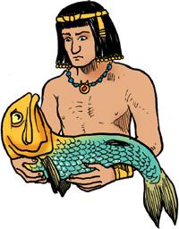 fisken hans Han satt på dekket med hoven klar da han kjente noe treffe låret sitt det var  sydhavets svar på en horngjell, en long-tom, og selv om fisken sprellet seg løs.