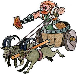 Tor är Odens äldste son, åskgud och den starkaste av asarna.